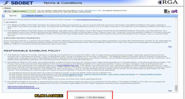 Peraturan untuk bisa mendaftar Sbobet
